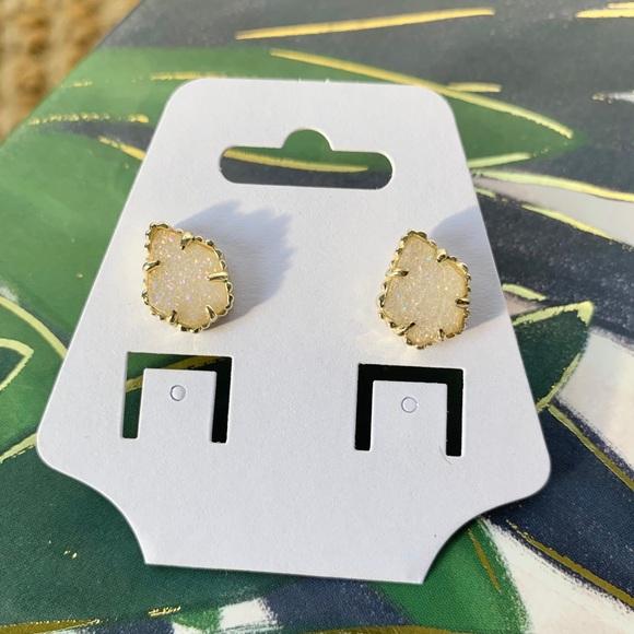 Kendra Scott Tessa stud earrings iridescent drusy